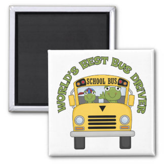 Worlds Best Bus Driver 2 Inch Square Magnet