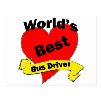 World's Best Bus Driver Post Card