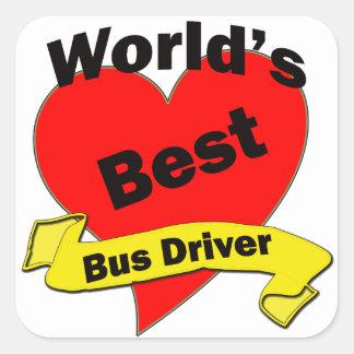 World's Best Bus Driver Square Sticker