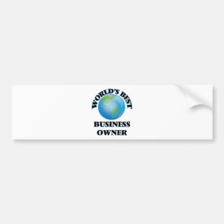 World's Best Business Owner Bumper Stickers