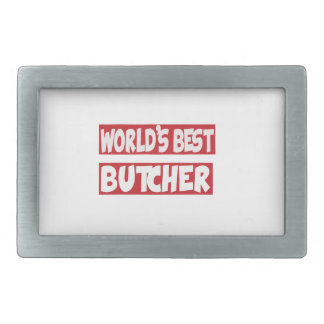 World's Best Butcher. Belt Buckle