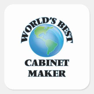 World's Best Cabinet Maker Square Sticker