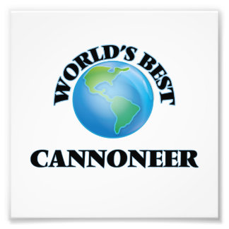 World's Best Cannoneer Photographic Print