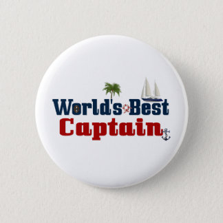 Worlds Best Captain Pinback Button