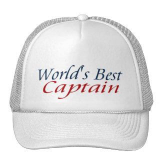 Worlds Best Captain Trucker Hat