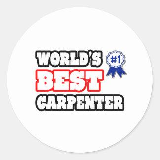 World's Best Carpenter Classic Round Sticker