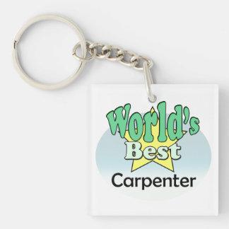 World's best Carpenter Single-Sided Square Acrylic Keychain