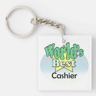 World's best Cashier Keychain