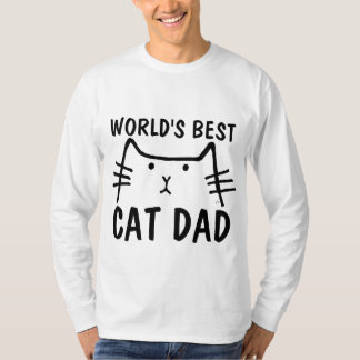 WORLD'S BEST CAT DAD, Long sleeved T-shirts