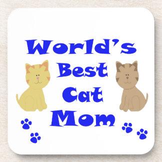 World's Best Cat Mom Beverage Coaster