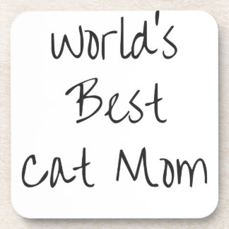 World's Best Cat Mom - Black Coaster