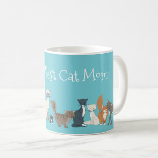 World's Best Cat Mom Cat Dad Rescue Mom Cat Breeds Coffee Mug