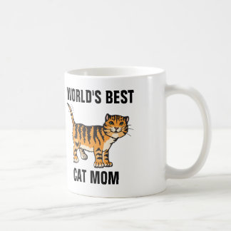 WORLD'S BEST CAT MOM coffee mugs