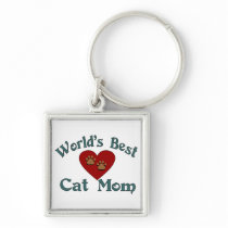 World's Best Cat Mom Keychain