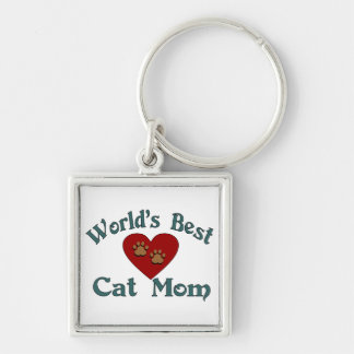 World's Best Cat Mom Keychain
