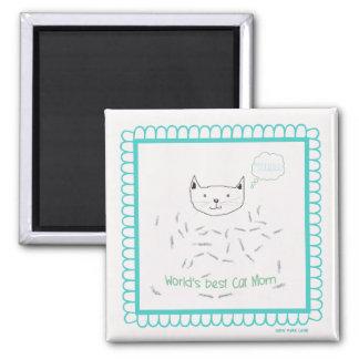 WORLD'S BEST CAT MOM Magnet