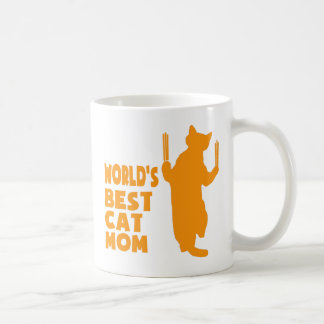 World's Best Cat Mom(Orange) Coffee Mug