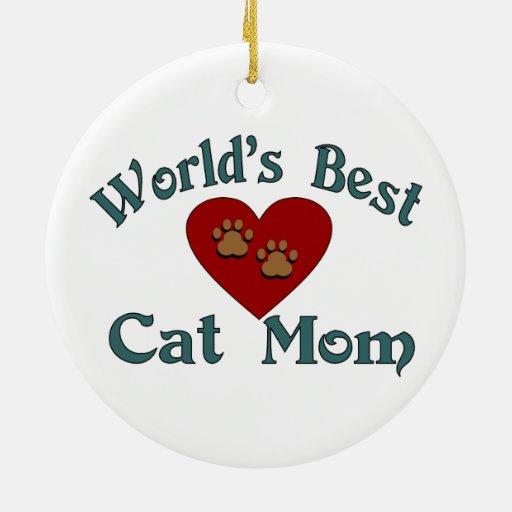 World's Best Cat Mom Ornament