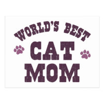 World's Best Cat Mom Postcard