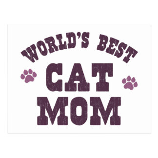 World's Best Cat Mom Postcard