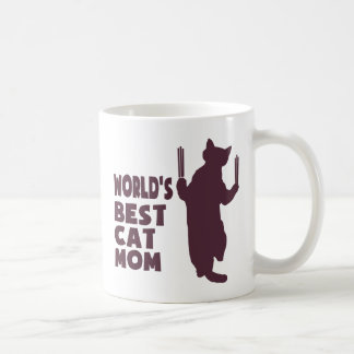 World's Best Cat Mom(Purple) Coffee Mug