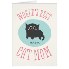 World's Best Cat Mum Mother's Day Card