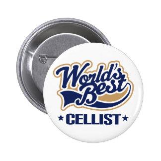 World's Best Cellist Music Gift Pinback Button