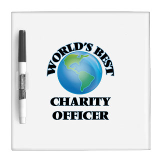 World's Best Charity Officer Dry Erase Whiteboards