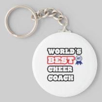 World's Best Cheer Coach Basic Round Button Keychain
