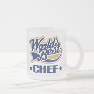 Worlds Best Chef 10 Oz Frosted Glass Coffee Mug