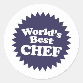 World's Best Chef Classic Round Sticker