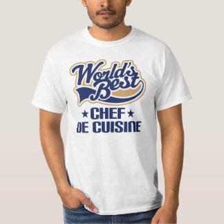 World's Best Chef De Cuisine Womens Mens Shirt