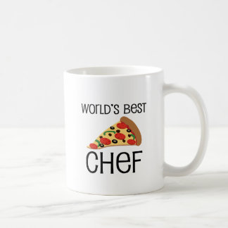 Worlds Best Chef Pizza Classic White Coffee Mug