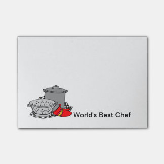 World's Best Chef Post-it Notes