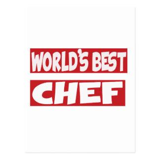 World's Best Chef. Postcard