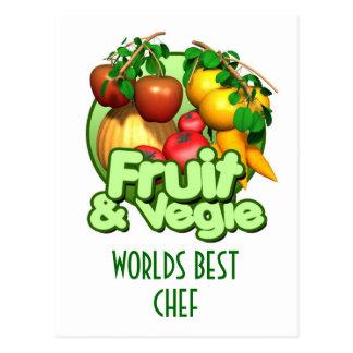 Worlds Best Chef Postcard