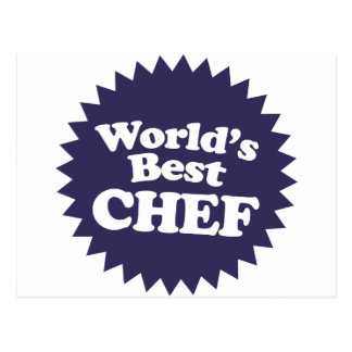 World's Best Chef Postcard