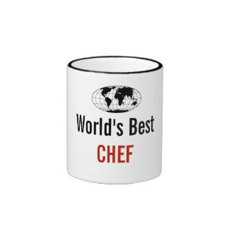World's best Chef Ringer Coffee Mug