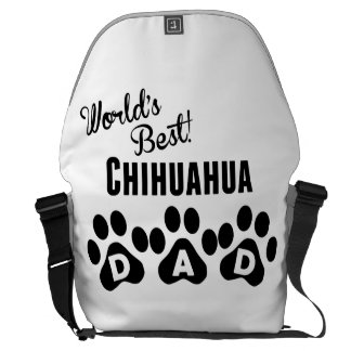 World's Best Chihuahua Dad Courier Bags