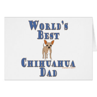 World's Best Chihuahua Dad Stationery Note Card