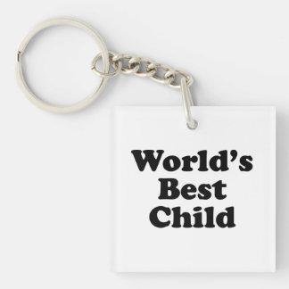 World's Best Child Single-Sided Square Acrylic Keychain