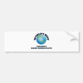 World's Best Children's Resort Representative Bumper Sticker