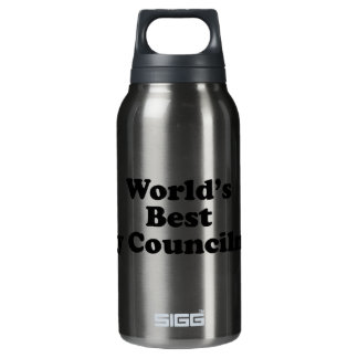 World's Best City Councilman Insulated Water Bottle