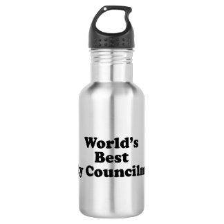World's Best City Councilman Stainless Steel Water Bottle