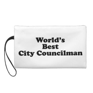World's Best City Councilman Wristlet Purse