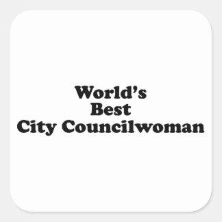 World's Best City Councilwoman Square Sticker