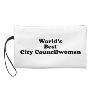 World's Best City Councilwoman Wristlet Purse