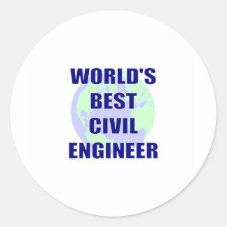 World's Best Civil Engineer Classic Round Sticker