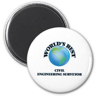 World's Best Civil Engineering Surveyor 2 Inch Round Magnet