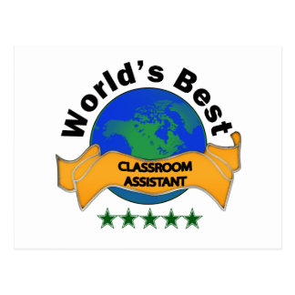 World's Best Classroom Assistant Postcard